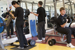 Gym at Bridgwater College